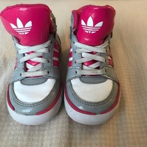 adidas Shoes - Toddler girl size 7 high top